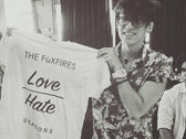 """Love Over Hate"" T-shirt photo"