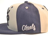 Crooked Coast Blue and Grey Snapback by Aksels photo