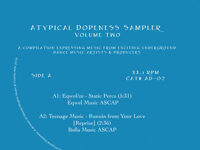 "Atypical Dopeness Sampler Vol.2 - 12"" VInyl Release main photo"