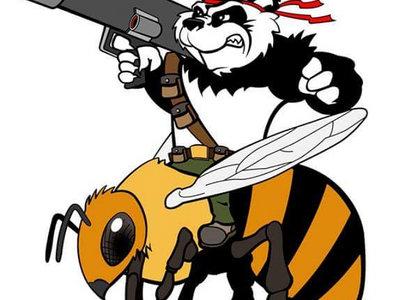 Logo Button! Panda riding a Bee carrying a Bazooka - what more could you want? main photo