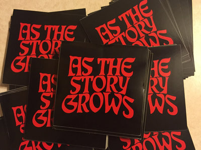 As The Story Grows Stickers (Red logo) main photo