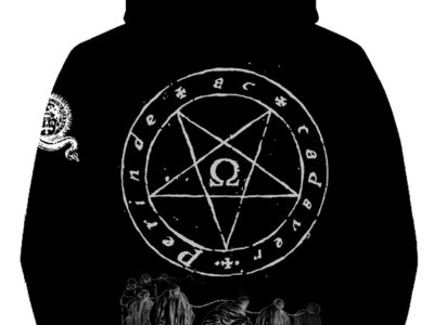 FAS - Ite, Maledicti, in Ignem Aeternum Super Heavyweight Full Zip Hoodie (400gr). Black, grey and white. main photo