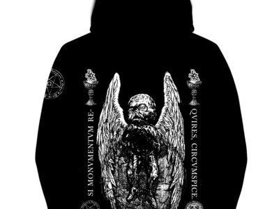 Si Monvmentvm Reqvires, Circvmspice Super Heavyweight Full zip Hoodie (400gr) - Black, grey and white main photo