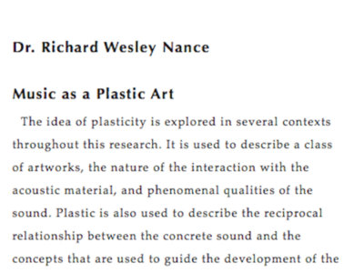 Music as a Plastic Art main photo