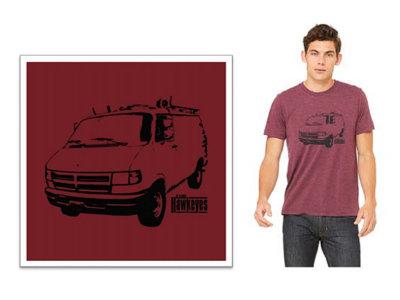 Maroon Unisex Van T-Shirt main photo