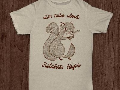 """I'm nuts about Kitchen Hips!"" t-shirt - NATURAL main photo"
