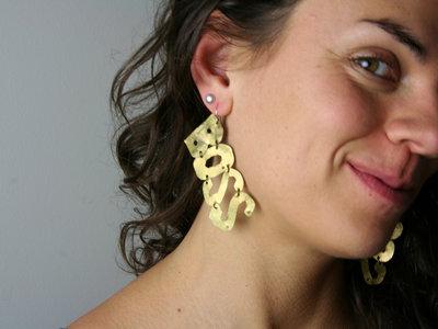 "Custom, Hand-Crafted ""Boss"" Fashion Earrings main photo"