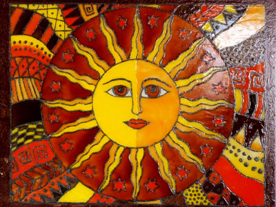 """Stained glass picture """"The Sun"""" + Download """"Beyond The Invisible"""" main photo"""