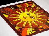 """Stained glass picture """"The Sun"""" + Download """"Beyond The Invisible"""" photo"""