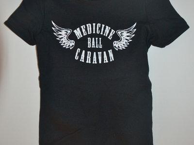 Winged logo Girlie T-shirt - Black main photo