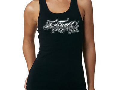 Women's Tank with Tattoo Style Lettering main photo