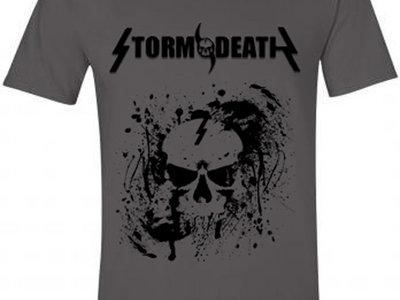 Grey Splatterskull T-shirt main photo