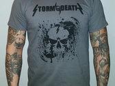 Grey Splatterskull T-shirt photo