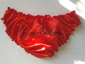 "*** SALE!!! *** ""My Love for Evermore"" red satin knickers photo"