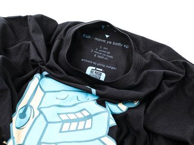 fish x phil morgan black t-shirt main photo