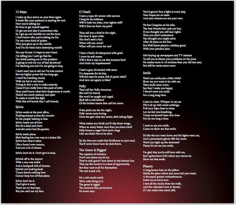Lyric he wants it all lyrics : Evening Redness