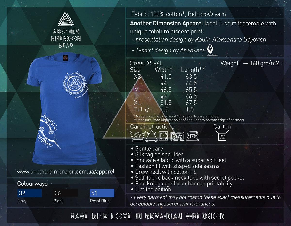 Shirt design measurements - Another Dimension Music Label T Shirt Female Sale