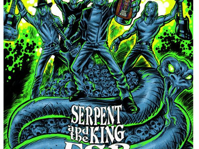 """""""Serpent and the King"""" official beer tasting print. main photo"""