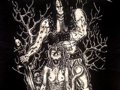 "T-Shirt ""Warrior"" (white print) main photo"
