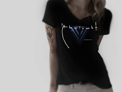 Black Woman T-shirt with Abstrakt logo main photo