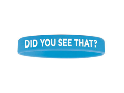 """""""Did You See That"""" Wristband - BLUE main photo"""