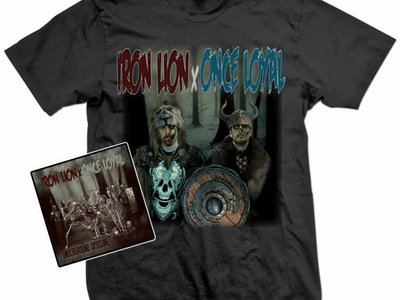 IRON LION x ONCE LOYAL t-shirt/CD and digital combo!! main photo