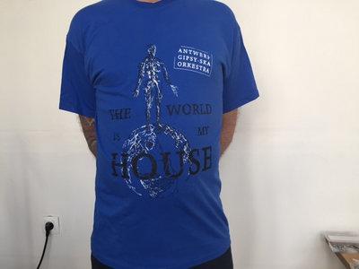 'The World is My House' 'I lumia Mo Kher' T-shirt Blue main photo