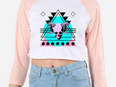 OIM Records Skull Womens Cropped Baseball Tee photo