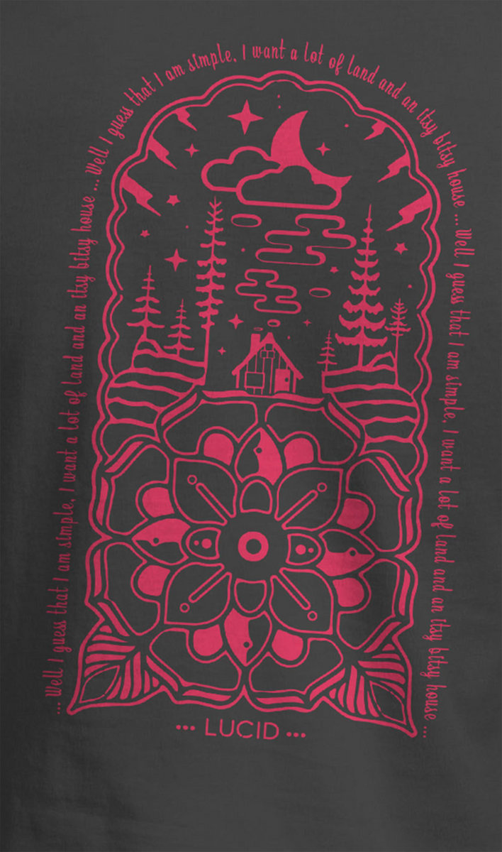 4a77ee60bf37 Whiskey Dreams Lotus Design T-Shirt - Red photo.