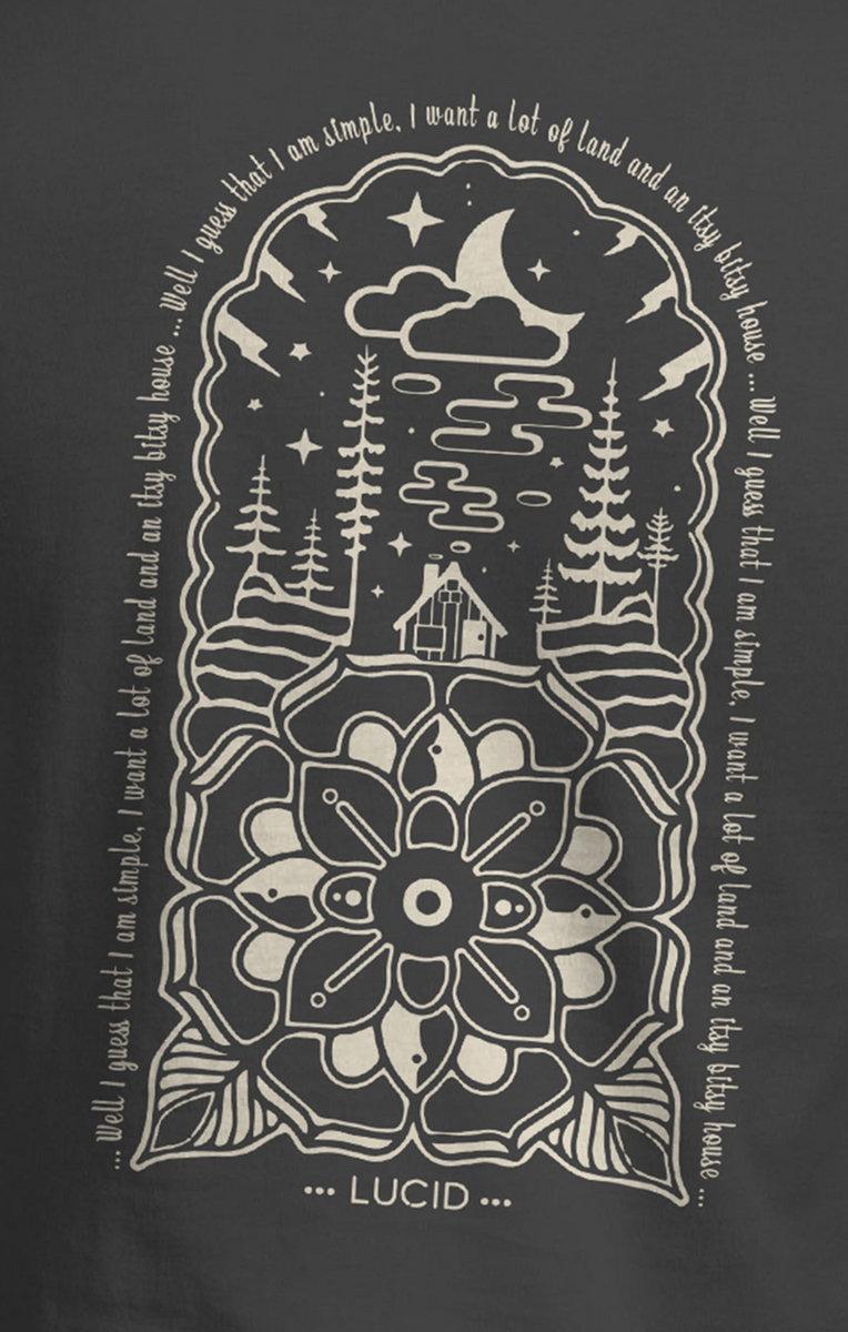 a373f0b1a4d8 Whiskey Dreams Lotus Design T-Shirt - Cream photo.