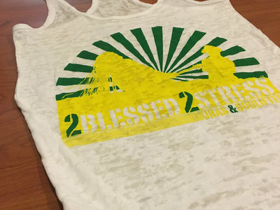 """2Blessed 2Stress"" Ladies Racerback Burnout Tanktop main photo"