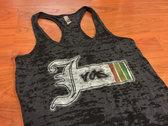"""J Ras Logo"" Ladies Racerback Burnout Tanktop photo"