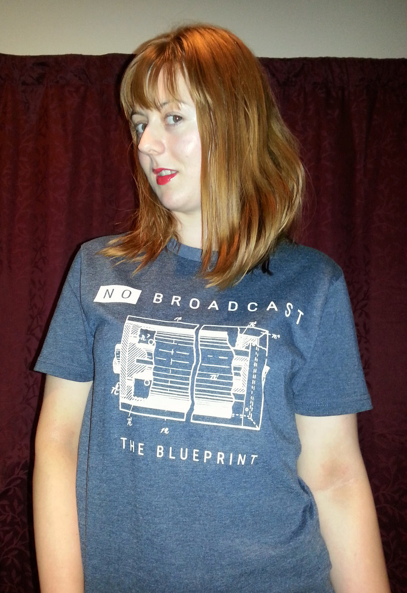 The blueprint no broadcast the blueprint artwork on blue denim or black t shirt gouwun malvernweather Image collections