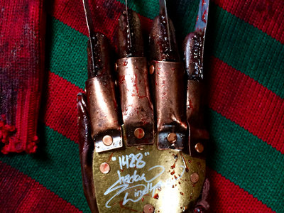 """1428"" Screen Worn Bloody Freddy Glove - Used in Kill Scene main photo"