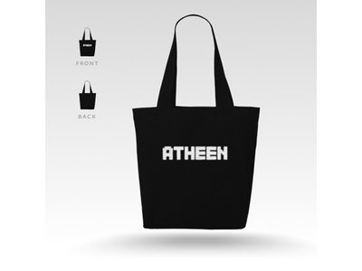 Atheen Logo Tote Bag - Black main photo