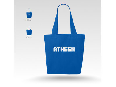 Atheen Logo Tote Bag - Blue main photo