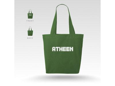 Atheen Logo Tote Bag - Green main photo