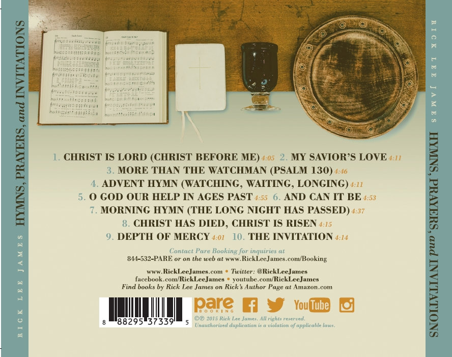 Hymns prayers and invitations rick lee james hymns prayers and invitations the 2016 worship release from rick lee james and lifeway worship which has been featured in ccli worship leader magazine stopboris Images