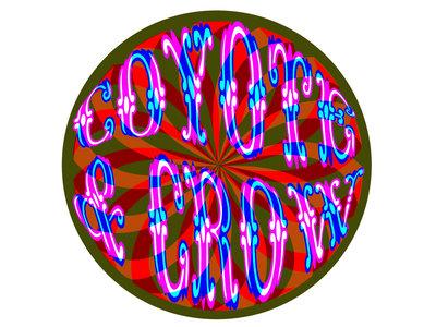 Coyote & Crow Psychedelic Swirl Logo Sticker main photo