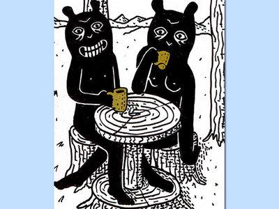 Buveurs de café [Drawing] main photo