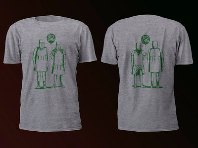 Balaclava Boys T-shirt - Green on 'Ash' Grey main photo