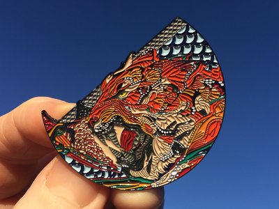"""Limited Edition """"Awoke"""" Tiger Pin with artwork by Android Jones main photo"""