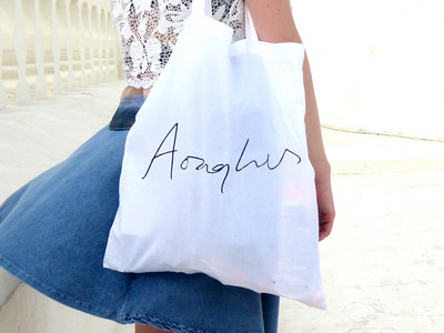 Fairtrade 5oz Cotton Tote Bag with Aonghus on it. main photo