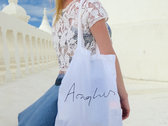 Fairtrade 5oz Cotton Tote Bag with Aonghus on it. photo