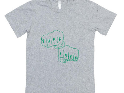Tuff Love Knuckles (green on grey) main photo