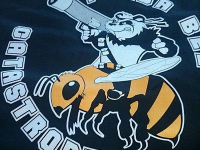 Logo'd Black Panda Bee Catastrophe Shirt main photo