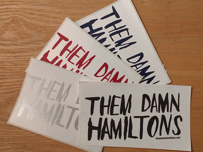 Them Damn Hamiltons Sticker main photo