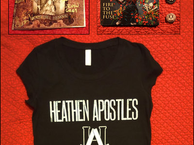 Heathen Apostles Girly T, 2 CDs, 3 Buttons Bundle w/ Free Download main photo