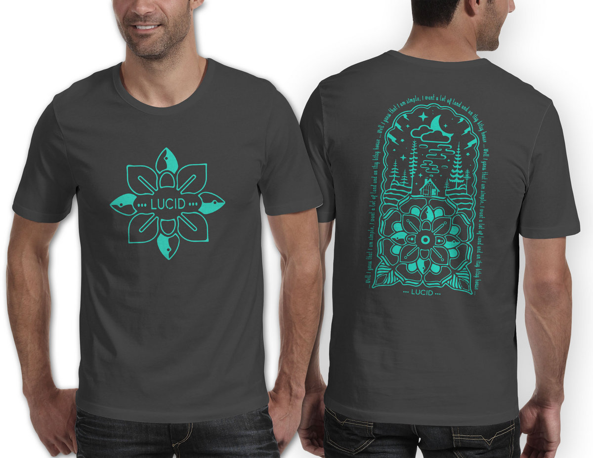 c7ca23ff32f5 Whiskey Dreams Lotus Design T Shirt - Mint   Lucid
