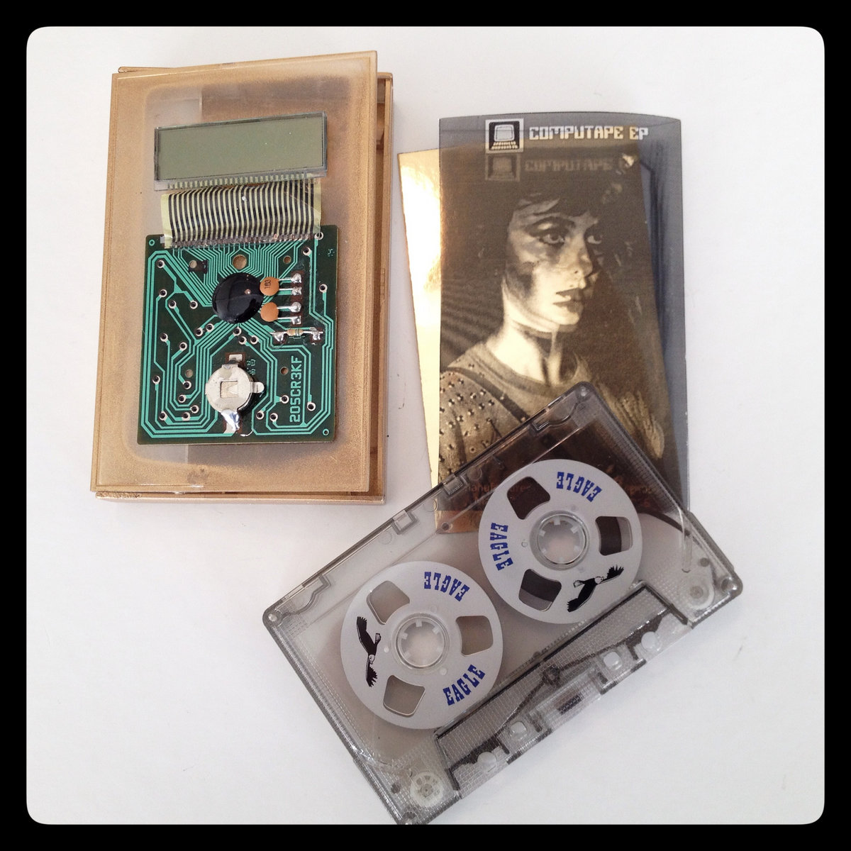 Tape 2 Barcelona Le Clich Circuit Board It Is A 3d Design With Calculator Boards Mounted Onto The Cassette Box Transparent Painted Gold Vintage Reel To